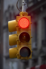 traffic light on red