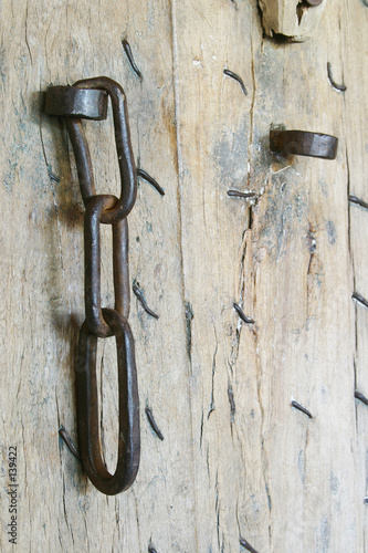 poster of chain on door