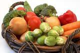 vegetables in the basket poster