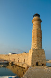 old lighthouse. rethymnon, crete, greece poster