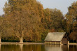 autumn boat shed