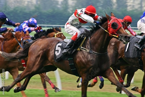 Foto op Canvas Paardensport horse racing