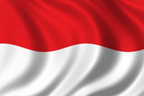 flag of indonesia poster