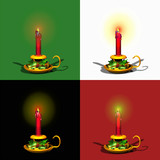christmas candles glowing poster