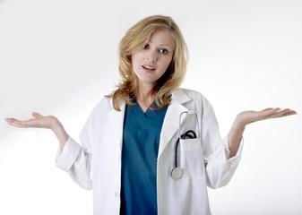 stock photo of doctor surrenders