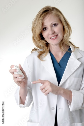 stock photo of lady pharmacist