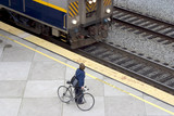 bike / train commuter poster