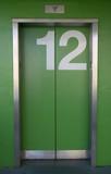 green elevator poster