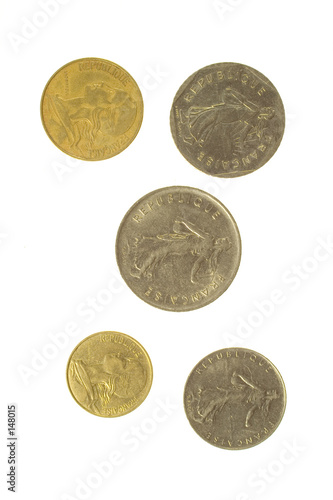 poster of five french coins