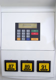 gas pump closeup poster