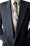 man in business suit poster