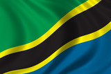 flag of tanzania poster