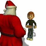offering cookies and milk to santa poster