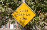 quiet hospital sign poster