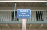 restoration sign poster