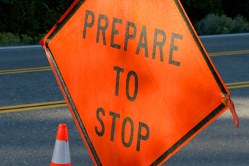 prepare to stop sign