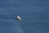 yacht viewed from above poster