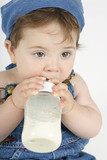 baby with bottle poster