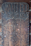 wanted dead or alive board. poster