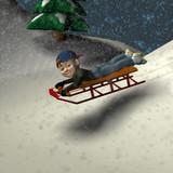 sledding fun poster