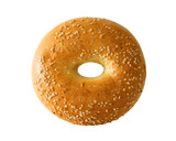 bagel with sesame seeds poster