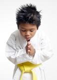 karate boy bowing poster