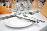 formal dinner setting - bread plate poster