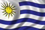 flag of uruguay poster