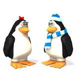 penguin cartoons poster