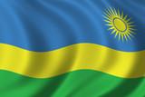 flag of rwanda poster