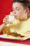 drinking milk poster