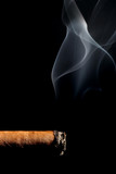 cigar smoking over black poster