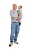stock photography:  father and son poster