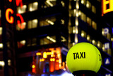 taxi in the night - new york city poster