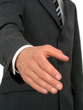 businessman ready to shake hands poster