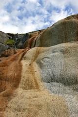 cascade of limestone rock