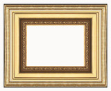 gold picture frame poster