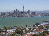 auckland harbour and skyline poster