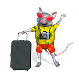 tourist mouse poster