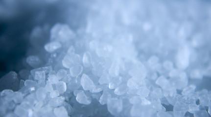 close up of salt