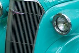 classic hot rod front end poster