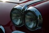 corvette headlight at dusk