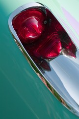 vintage old corvette tail light