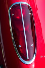 vintage bright red corvette tail light