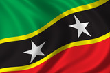 flag of saint kitts and nevis poster
