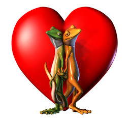 geckos in love