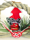 japanese new year decoration poster