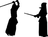 kendo fighters #2 silhouette poster