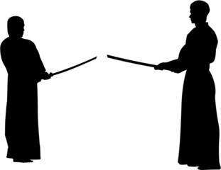 prepare to fight, kendo - silhouette