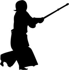 kendo fighter #3 silhouette
